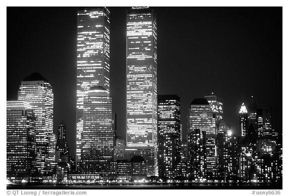 black and white picturephoto world trade center twin