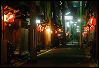 Narrow alley by night. Kyoto, Japan ( color)
