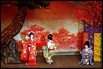 Miyako Odori (cherry blossom dance) performed at the Gion Kobu Kaburen-jo theatre. Kyoto, Japan (color)