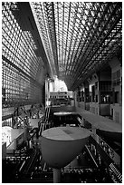Train station hall. Kyoto, Japan ( black and white)