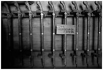 Rack of period riffles. Himeji, Japan (black and white)