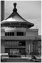 Chinese Cultural center. Calgary, Alberta, Canada (black and white)