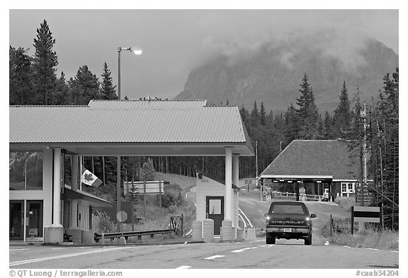 Border Crossing. Waterton Lakes National Park, Alberta, Canada