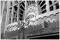 Art Deco entrance of the Marine building. Vancouver, British Columbia, Canada ( black and white)