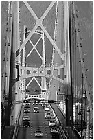 Lions Gate Bridge. Vancouver, British Columbia, Canada (black and white)