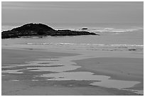 Dusk, Long Beach. Pacific Rim National Park, Vancouver Island, British Columbia, Canada ( black and white)