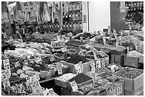 Chinese medicinal goods in Chinatown. Vancouver, British Columbia, Canada ( black and white)