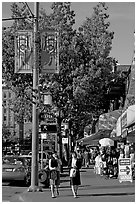 Chinatown street. Vancouver, British Columbia, Canada ( black and white)