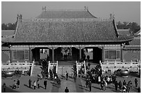 Heavenly Purity Gate, Forbidden City. Beijing, China (black and white)