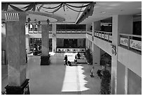 Hotel lobby. Beijing, China (black and white)