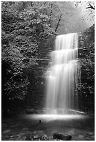 Waterfall between Xiangfeng and Yuxian. Emei Shan, Sichuan, China ( black and white)