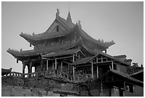 Golden Summit temple, evening. Emei Shan, Sichuan, China ( black and white)