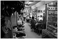Strange foods for sale inside the Qingping market. Guangzhou, Guangdong, China ( black and white)