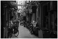 Alley. Shanghai, China ( black and white)