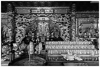 Altar, Guandu Temple. Taipei, Taiwan ( black and white)