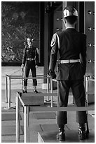 Honor Guards, Martyrs Shrine. Taipei, Taiwan ( black and white)
