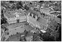 The Burg. Bruges, Belgium (black and white)
