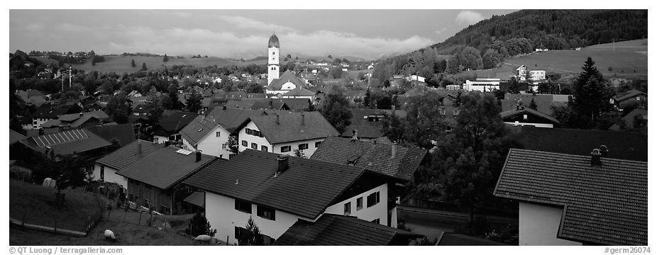 Panoramic Black and White Picture/Photo: Nesselwang ...