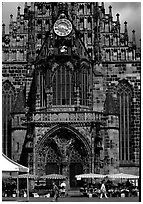 Liebfrauenkirche (church of Our Lady). Nurnberg, Bavaria, Germany ( black and white)