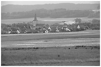 Rural village. Bavaria, Germany (black and white)