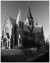 Cathedral. Gotaland, Sweden (black and white)