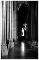 Inside the Cathedral of Uppsala. Uppland, Sweden (black and white)