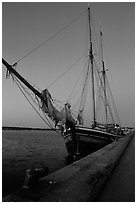 Two-masted Sailboat, Vastervik. Gotaland, Sweden (black and white)