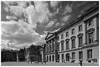 Cour d'honneur, Versailles Palace. France ( black and white)