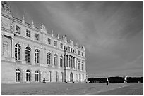 Palais de Versailles, sunset. France ( black and white)