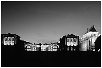 Versailles Palace at night. France ( black and white)