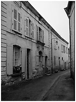 Street. Loire Valley, France (black and white)