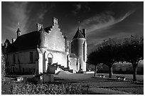 Loches palace. Loire Valley, France (black and white)