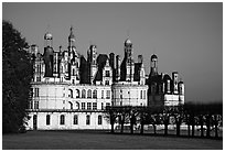 Chambord chateau. Loire Valley, France ( black and white)