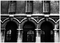 Facade of Lycee Louis-le-Grand, the most prestigious of the French high schools. Quartier Latin, Paris, France (black and white)