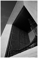 Detail of Arche de la Defense. France ( black and white)