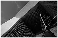 Detail of Grande Arche de la Fraternite, La Defense. France ( black and white)
