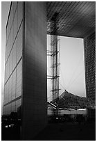 Grande Arche at dusk, La Defense. France ( black and white)