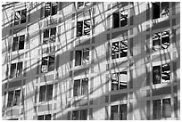 Windows, Grand Ecran building. Paris, France (black and white)