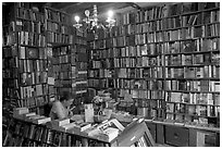 Shakespeare and Company bookstore. Quartier Latin, Paris, France (black and white)