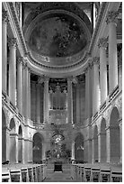 Chapel of the Versailles palace. France ( black and white)