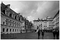 Place St Andre. Grenoble, France ( black and white)