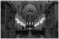 Inside the Cathedral of Notre-Dame-des-Doms. Avignon, Provence, France ( black and white)