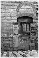 Thermae of of Constantine. Arles, Provence, France ( black and white)