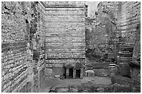 Baths of Constantine. Arles, Provence, France ( black and white)