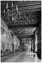 Gallerie Francois 1er, Fontainebleau Palace. France ( black and white)