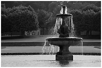 Fountain, Fontainebleau Palace. France ( black and white)
