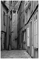 Alley, Chartres. France ( black and white)
