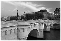 Pont Neuf at sunset. Paris, France ( black and white)
