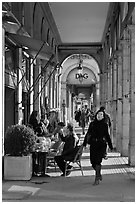 Arcades, Palais Royal. Paris, France (black and white)