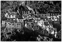 Zongkul Gompa, Zanskar, Jammu and Kashmir. India (black and white)
